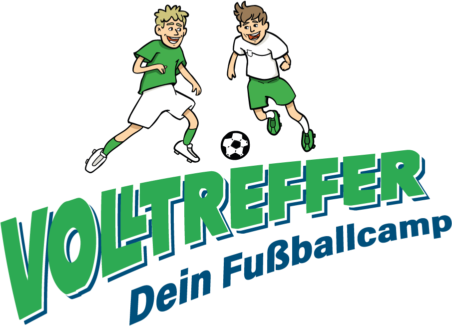 "Volltreffer_Logo - Thomas ""Icke"" Häßler - Marko Rehmer - Volltreffer Fussballcamp"